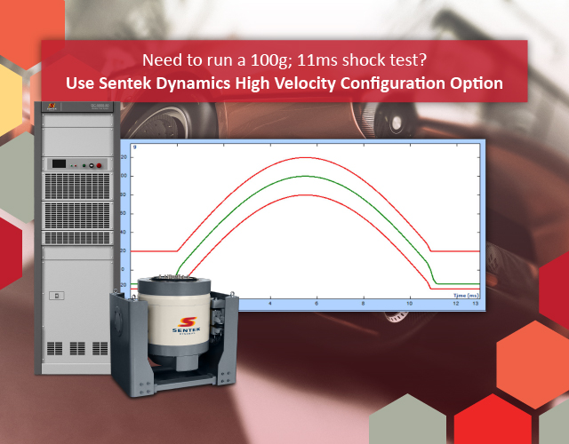 Need to run a 100g 11ms shock test High Velocity Configuration Option